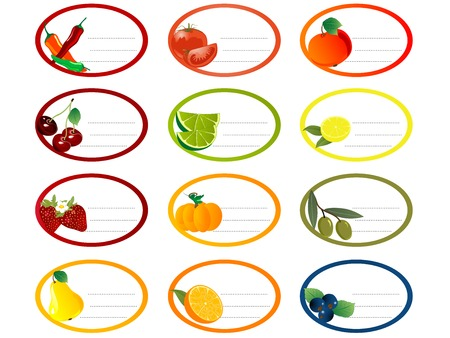 Stickers for jam and vegetables