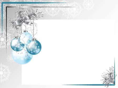 Zilveren frame met lint en blauwe ballen