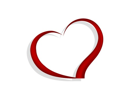 Resumen corazón rojo - ilustración vectorial Foto de archivo - 52997370