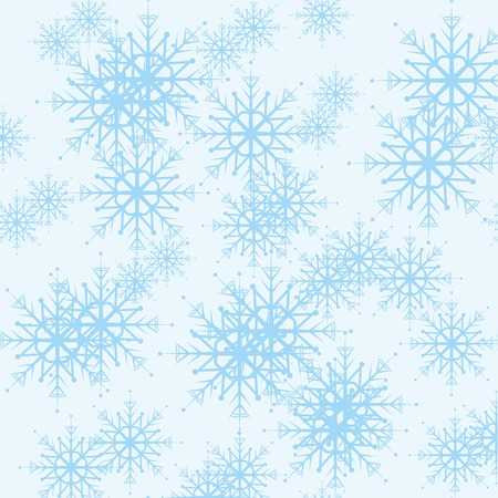Seamless pattern with blue snowflakes Illustration