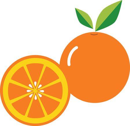 Orange icon illustration in white background.
