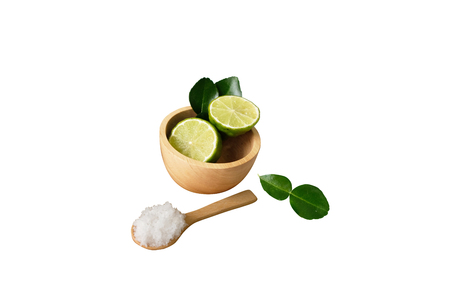 Kaffir lime Herb Essential oil used in spa, clipping, path.