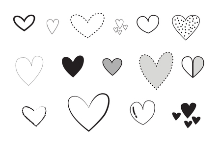 The heart is used for Valentine's Day, Vector, illustrator 일러스트