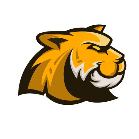 Tiger mascot logo design with modern illustration concept style for badge, emblem and t shirt printing. Angry tiger illustration for sport and e-sport team.