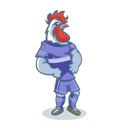 Rooster mascot design with modern illustration concept style for sport team. The color can be edited according to your favorite team.