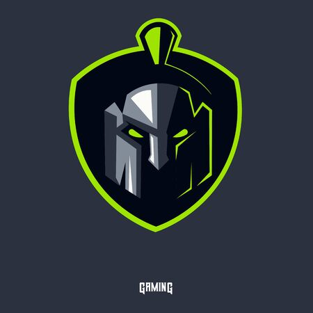 spartan mascot logo design vector with modern illustration concept style for badge, emblem and t shirt printing. Head spartan illustration for sport and e-sport team.
