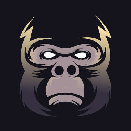 Gorilla mascot logo design with modern illustration concept style for badge, emblem and t shirt printing