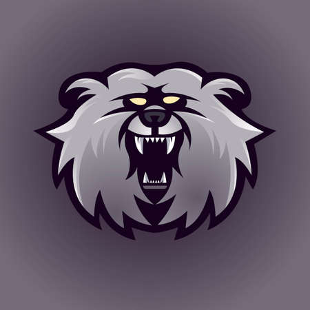 Bear mascot logo design vector with modern illustration concept style for badge, emblem and t shirt printing. Angry bear illustration for sport and e-sport team. Logo