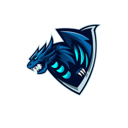 Dragon mascot design vector with modern illustration concept style for badge, emblem, t shirt printing and any design