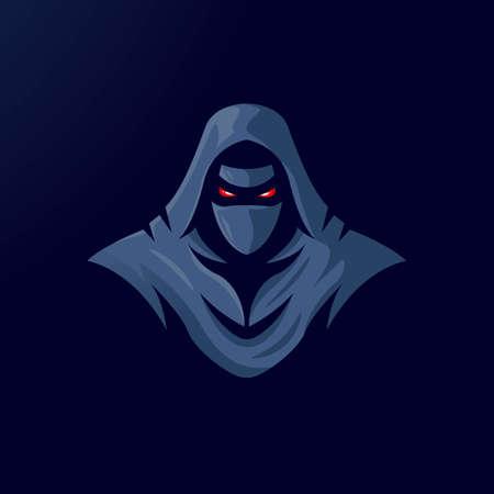 Ninja mascot logo design vector with modern illustration concept style for badge, emblem and t-shirt printing. Angry Ninja for gaming