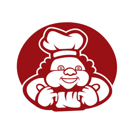 Black and white vector chef. used for and other graphic design