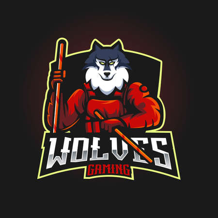 Wolf carries Kali sticks for gaming team