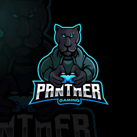 Panther gamer mascot esport design Vecteurs