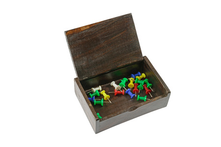 sewing box: pins and box