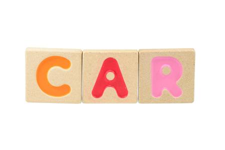 word car written in wooden blocks  photo
