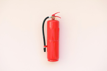 Fire extinguisher on the wall  photo