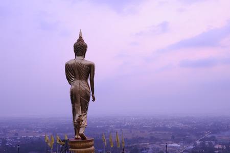 Buddha statue standing at Wat Phra That Khao Noi, Nan ,thailand photo