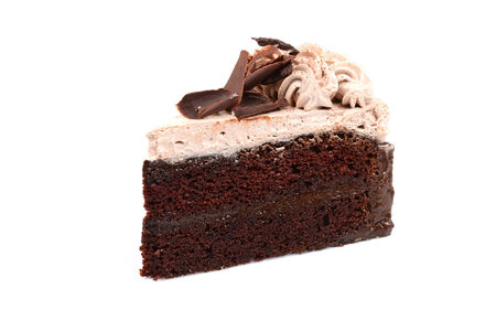 Chocolate Cake isolated in white background photo
