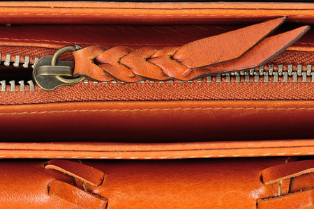 leather bag zipper photo