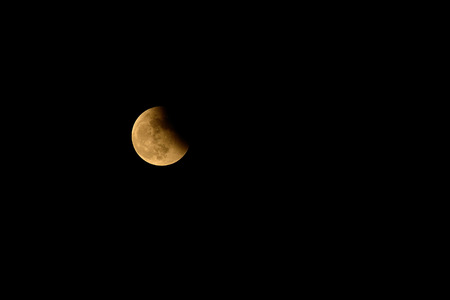 moon, partial lunar eclipse photo
