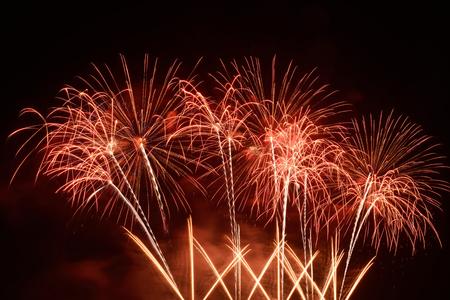 celebration party: firework display Stock Photo