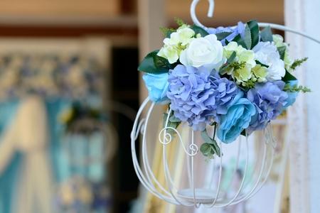 Beautiful flower wedding photo