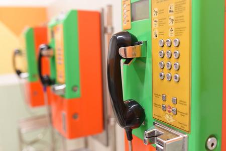 telephones: public telephones Stock Photo