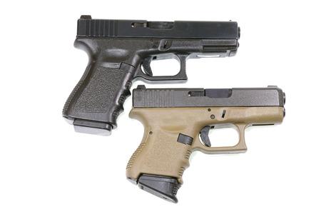 luger: handgun on white background Stock Photo