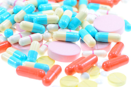 ecstacy: pills and capsules. Stock Photo