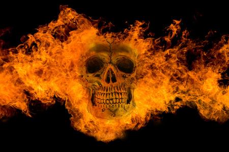 Fire skull Reklamní fotografie - 43618596