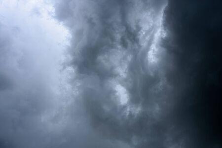 Background of dark clouds before rain