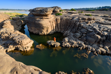 Samphanboke Grand Canyon of Asia. Mekong region in Ubon Ratchathani province Thailand Stok Fotoğraf