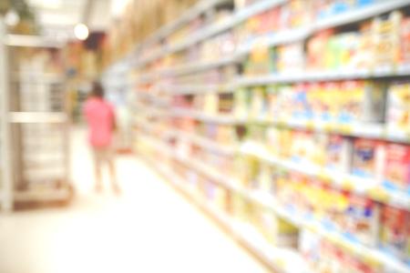 Supermarket store. Blur background