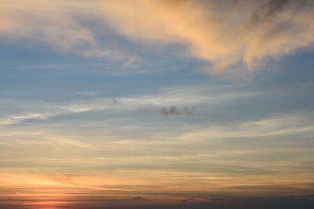 Sfondo del cielo al tramonto Archivio Fotografico - 75723382