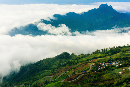 Phu tabberk in Phetchabun Province Asia Thailand Reklamní fotografie