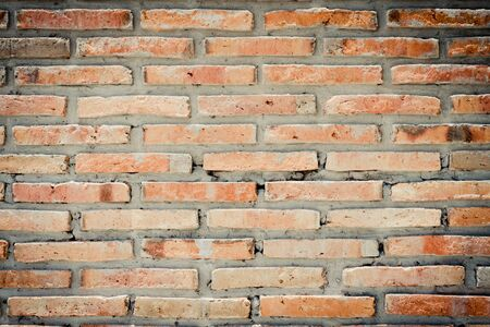 Vintage red brick wall background Reklamní fotografie