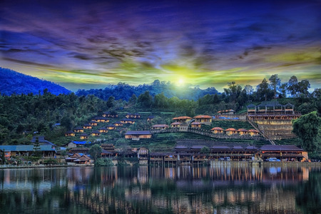 Mae Aw or Rak Thai Village in Pai district, a Chinese settlement in Mae Hong Son province, Northern Thailand. The village was established, and is still populated by Chinese Kuomintang refugees who escaped the communists in 1949.