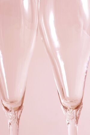 Two wine glasses isolated over a pink background Stock Photo - 2354635