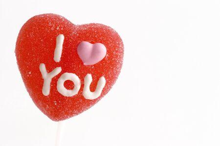 i love u: Je LOVE U sucette Banque d'images