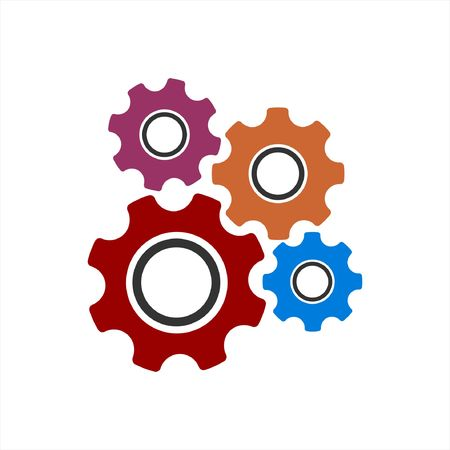 gear mechanism and settings vector icon