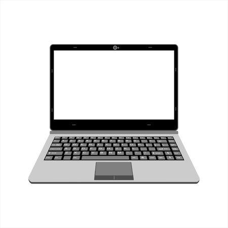 black and gray laptop vector illustration Çizim