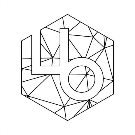 LB initials geometric line art and triangle block chain logo