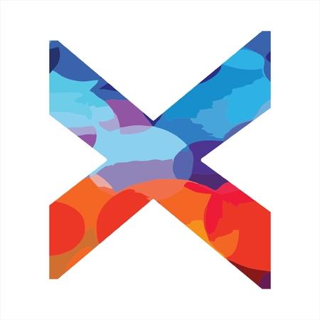 X kleurrijk eerste bedrijfslogo, modern, grappig en stijlvol Logo
