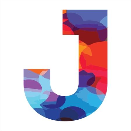 J colorful initial company logo, modern, funny, and stylish Illusztráció