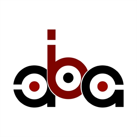 aba initials letter company logo Logo
