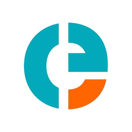 e, ce, cf, ceg, ceo initials letter company logo