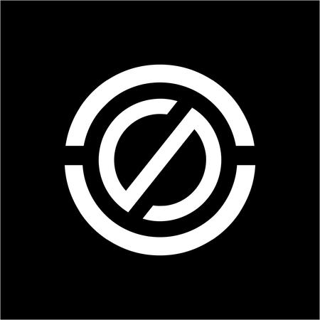 CCS, OS, SO, CSO initials geometric company logo