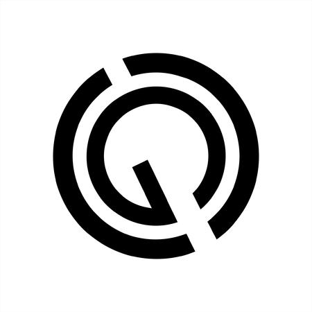 simple GC, CG, CGO initials letter company logo