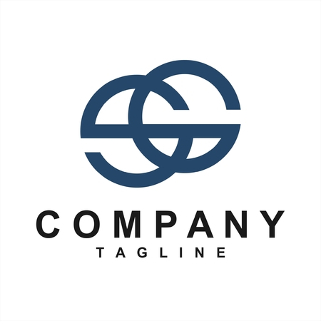 line art SG, GS, SEG initials simple geometric company logo Logó