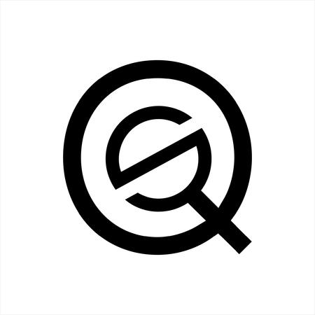 simple SQ, QS, QSO initials letter company logo